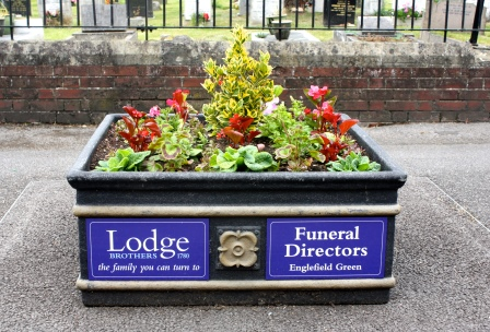 St Jude's Rd floral tub