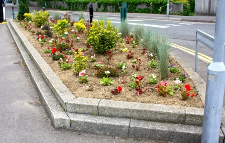 St Jude's Rd flower bed