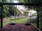 A lovely play area behind the Barley Mow