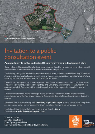 Royal Holloway Consultation - Monday 22nd July